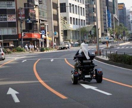 马桶摩托车从日本九州总公司出发,经过1400公里的路程最后将到达东京世田谷区的TOTO技术中心。