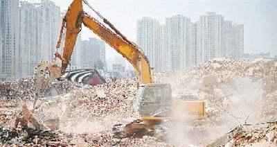 ▲工地扬尘污染已经排在北京大气人为污染源第二位(图片来自网络)