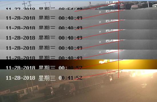 经校准,视频时间比北京时间慢 6 秒
