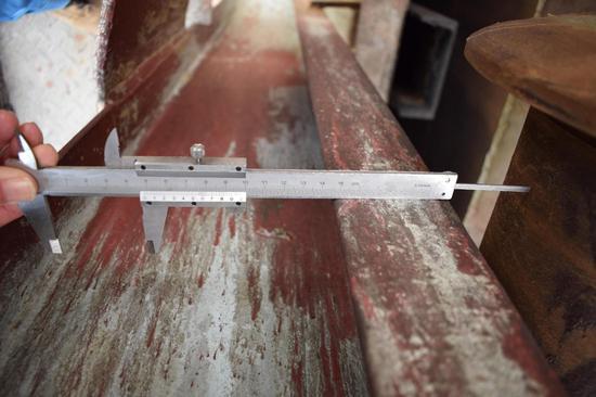 10#钟罩导轮与导轨间隙 45mm